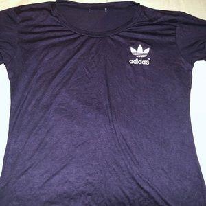 Navy blue Adidas shirt